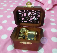 "Play""Once Upon a December"" Wooden Vintage Music Box With Sankyo Musical Movement"