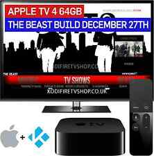 Apple TV 4th Gen 64GB Loaded with KODI ✅ MOVIES ✅ TV SHOWS ✅ SPORTS ✅THE BEAST