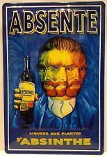 Absente Absinthe Embossed Vintage Steel Sign