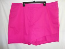 CLEARANCE Lane Bryant $60 Asymmetric Skort Skirt Shorts Pink Stretch Plus 26 4X