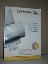 Lexmark Z12 Color Jetprinter Manuale stampante in 5 lingue