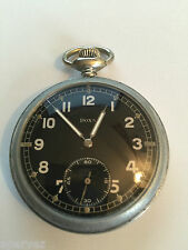 WW2 GERMAN DOXA MILITARY POCKET WATCH - DH numbered!  Original - Running