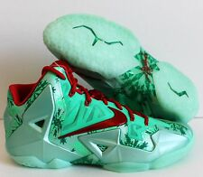 NIKE LEBRON XI 11 CHRISTMAS GREEN GLOW-LIGHT CRIMSON SZ 12 [616175-301]