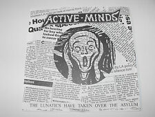 "ACTIVE MINDS - ""The Lunatics Have..."" 7"" flexi disc. Political hardcore punk."