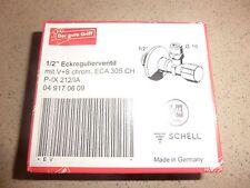"""SCHELL Eckregulierventil Eckventil 1/2""""  049170609 selbstdichtend ASAG - NEU OVP"""