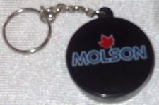 Molson Beer Hockey Puck Key Chain - Bottle Opener  NEW