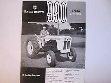 Vintage 1960's David Brown 990 4 Plow Diesel Tractors Brochure LOTS More Listed