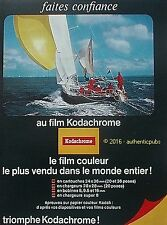 PUBLICITE KODAK KODACHROME FILM COULEUR VOILIER MER PHOTO DE 1966 FRENCH AD PUB