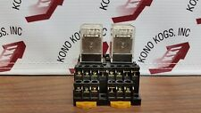Pair of Omron MY4N Relays with Bases