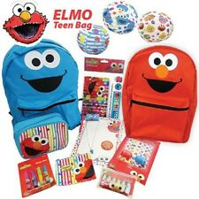 ELMO Showbag - Reversible Elmo & Cookie Monster Backpack, Stationary Set