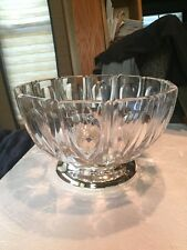F.B. Rogers Silver Company Lead Crystal Heavy XL FooteD Bowl Made In W. Germany