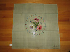 """Jolles PRE-WORKED Needlepoint FLORAL Canvas  - 27"""" x 27"""" - Austria - 2 of 2"""