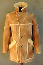 Vintage Sheepskin leather & Shearling Marlboro Man Coat Jacket