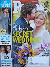 KELLY CLARKSON'S SECRET WEDDING  Nov. 4, 2013 PEOPLE  KIM KARDASIAN ENGAGED