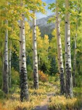 Canvas Print Forest trail Oil painting Picture Printed on canvas 16x20 Inch P178