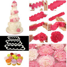 3PCS/Set Carnation Flowers Cake Cutter Mold Fondant Sugarcraft Mould Tools Hot