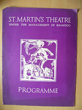 ST. MARTIN'S THEATRE PROGRAMME 1933 - THE GREEN BAY TREE by Mordaunt Shairp