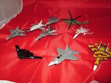 Die-Cast Plane Lot of 9 Military Jets, Maisto, USAF, NAVY, Matchbox, Fighter Jet