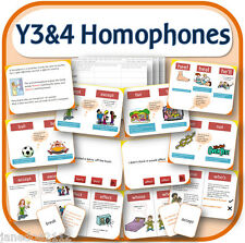 Year 3 & 4 SPELLING HOMOPHONES teaching resources IWB worksheets games etc on CD