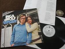 LP Inga & Wolf Du siehst die Zeit nicht vergeh'n Weiß Label PROMO LP Ger.   M-