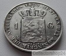 Coin / Munt Netherlands 1897 Zilveren 1 Gulden Wilhelmina