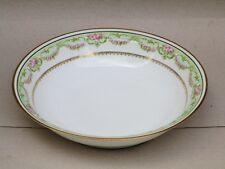 PORCELAINE DE LIMOGES SERVICE  DE TABLE  PLAT CREUX  COMPOTIER  VERS 1908 1920