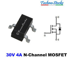 10 Pcs. AO3402 N-Channel 30V 4A MOSFET SOT-23 Transistor N-Mos