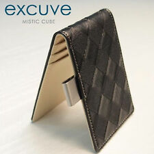 [excuve] Chess Personalized Money Clip Billfold Wallet G14 Black-Free Engraving