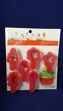 Christmas Holiday Cookie Cutter Topper 6 Piece Set for Cupcakes and Cakes