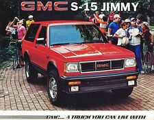 1985 GMC S-15 Jimmy Sierra Sierra Classic Gypsy Dealer Sales Brochure