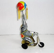 VINTAGE BLIC CIRCUS ELEPHANT ON TRICYCLE WIND UP TIN TOY
