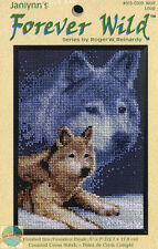 Cross Stitch Kit ~ Janlynn Forever Wild Artic Gray Wolf & Snow #013-0309