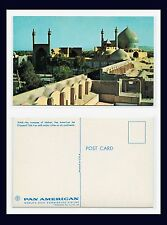 MIDDLE EAST IRAN ISFAHAN MOSQUE POSTCARD PUBLISHED BY PAN AMERICAN AIRWAYS