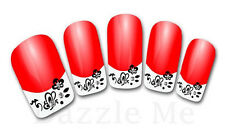 3D Nail Art Decals Transfer Stickers French Tip Design Rhinestones (3D848)