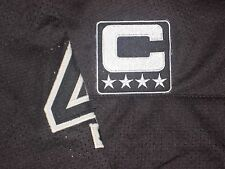OAKLAND RAIDERS CUSTOM SILVER & BLACK TEAM CAPTAINS JERSEY PATCH SEW OR IRON ON!