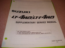Suzuki 1989 LT-4WD/LT-F4WD Supplementary Service Manual P/N 99501-42130-01E