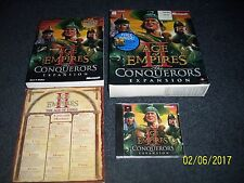Age of Empires II: The Conquerors Expansion (PC, 2000) w/ Guide, Large Box!