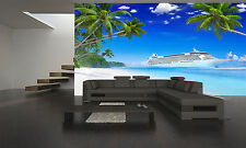 Cruise on the Tropical Beach Wall Mural Photo Wallpaper GIANT DECOR Paper Poster