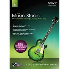 Sony ACID Music Studio 8 Full Version PC XP/VISTA/7 SEALED NEW