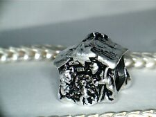 SILVER  PLATED  MANGER / NATIVITY SCENE CHARM **  ** SEE MY STORE