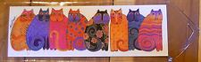 Leanin Tree BookMark Lots of CATS in row Bright Colorful Laurel Burch Made USA