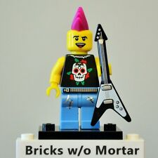 New Genuine LEGO Punk Rocker Minifig with Guitar Series 4 8804