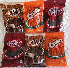 Candy Assortment of Root Beer, Orange and Dr. Pepper  Licorice 5 oz - 6 packs