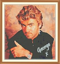 George Michael 5 CROSS STITCH CHART 12.0 x 11.0 Inches