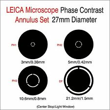 Phase Contrast Set 27mm Diameter  for LEICA Microscope
