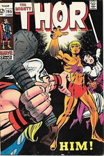 The Mighty Thor Comic Book #165 First Full Warlock Marvel Comics 1969 FINE/FINE+