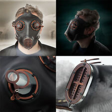 Cosplay Costume Prop Steampunk Silicone Gas Mask Antique Copper Finish NEW