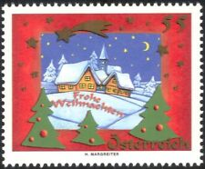 Austria 2005 Christmas/Greetings/Houses/Buildings/Snow/Trees/Animation 1v at1112