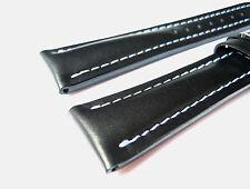 Kalbslederband, schwarz, 20/18 speziell passend für Breitling-Dornschließen