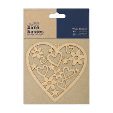 Docrafts Papermania wood craft embellishment Bare basics wooden heart